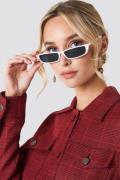 NA-KD Accessories Wide Rectangle Sunglasses - White
