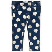 Guess Blue Heart Print Jeggings 18 months