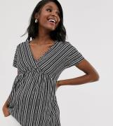 Mamalicious stripe v front tunic top-Multi